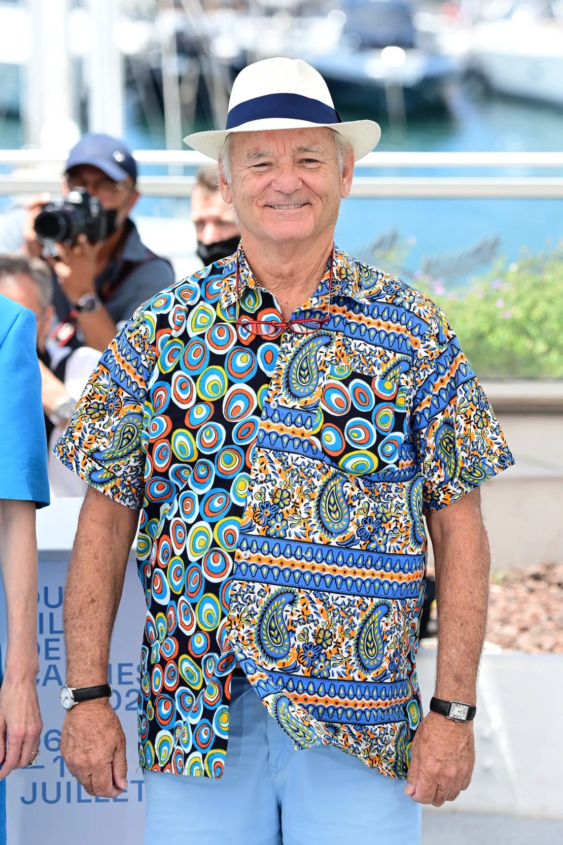 Bill Murray attends the The French Dispatch photocall during the 74th annual Cannes Film Festival