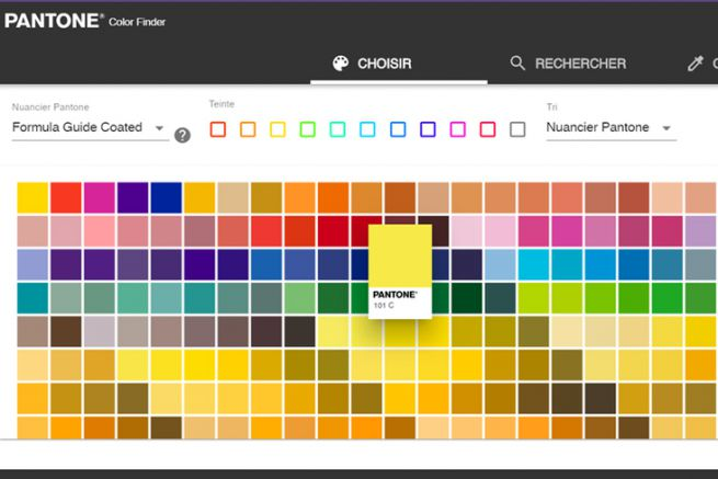 Selectionner Trouver Et Convertir Les Couleurs Avec L Outil Pantone Color