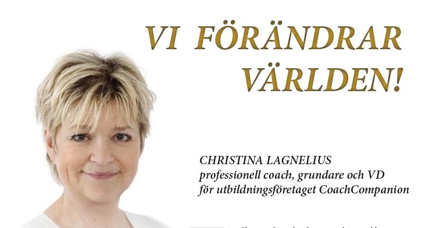 Bild: Christina Lagnelius, coach, grundare av CoachCompanion