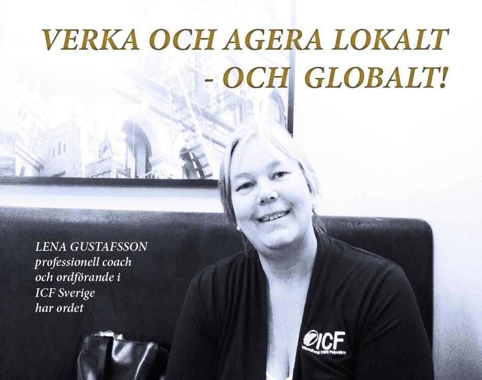 Bild: Lena Gustafsson, coach, ordförande ICF Sverige. GROW magazine vol 1, Tema: Profession Coach