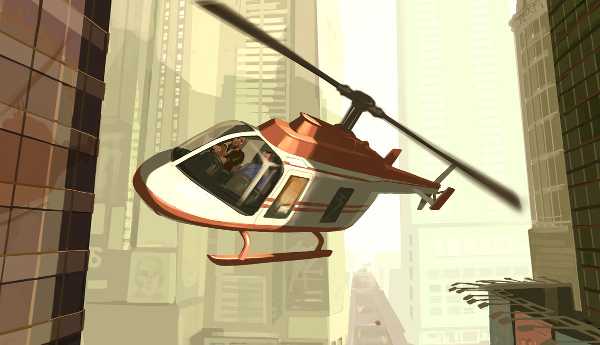 Helicopter in GTA IV