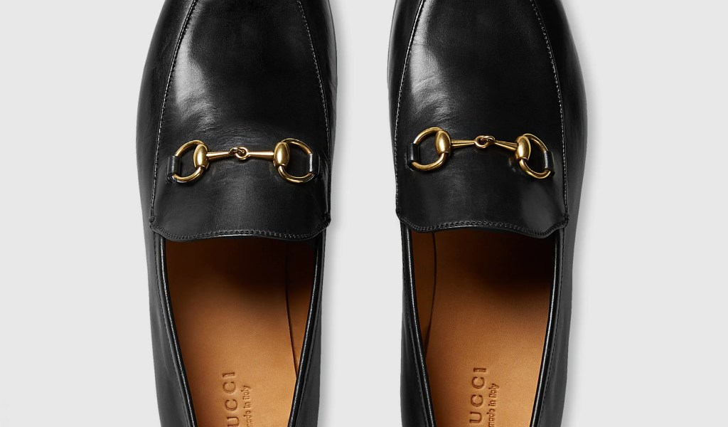 5607e7278 Gucci Leather Loafers - Home of Fashions
