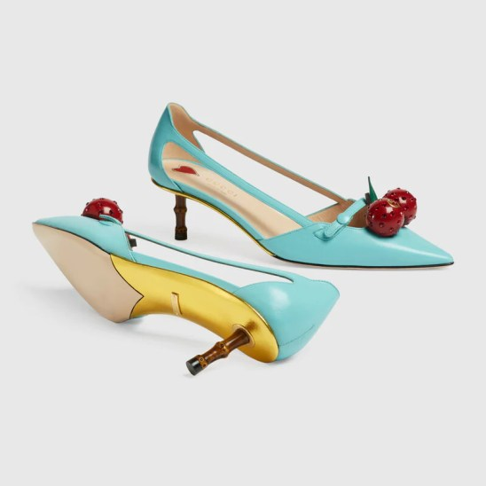 Gucci Leather cherry pump Detail 5