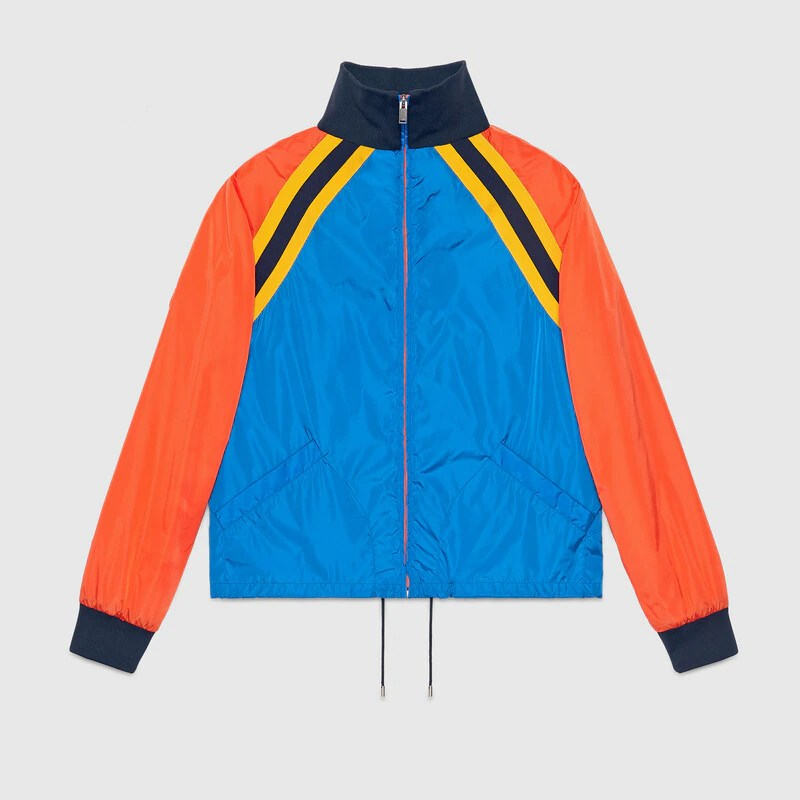 Nylon Jacket With Tiger Appliqué