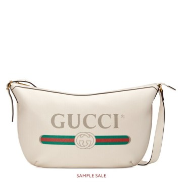 Image result for Gucci Print Half-Moon Hobo bag
