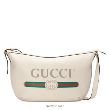 Image result for Gucci Print Half-Moon Hobo bag