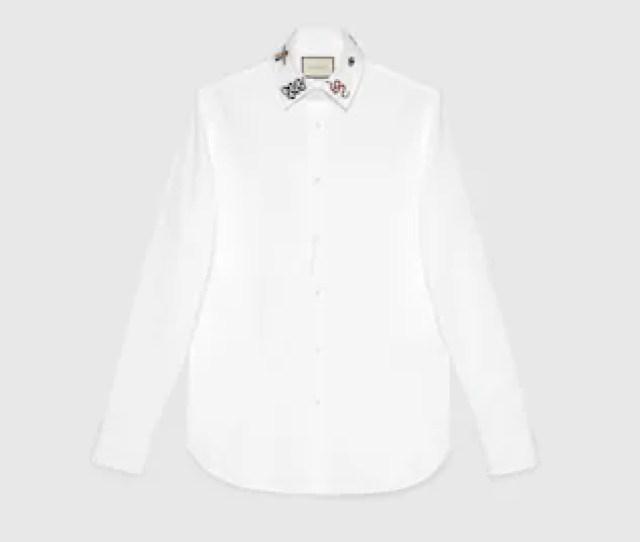 Cotton Shirt With Symbols