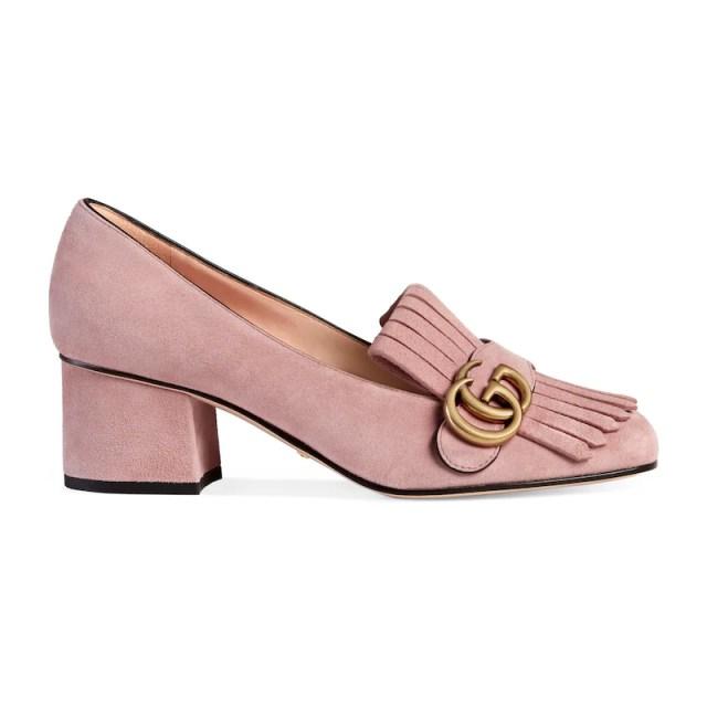 Suede mid-heel pump, £495.0
