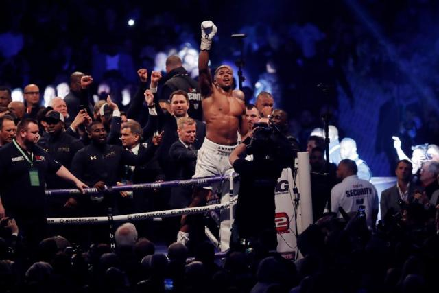 Joshua celebrates victory.