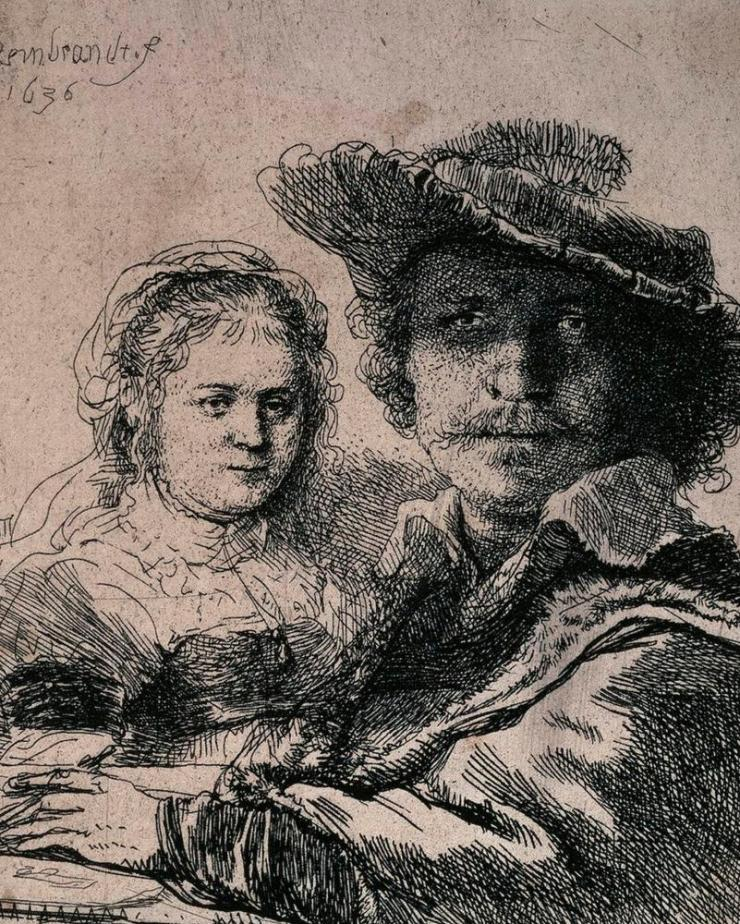 Self-Portrait with Saskia, 1636.