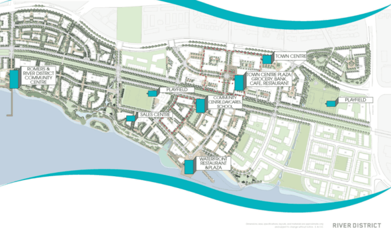 River District in Vancouver will feature playing fields, parkland, a community centre, daycare and schools
