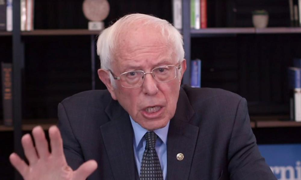 Bernie Sanders talks about his plan to deal with the coronavirus pandemic on March 17, 2020 in Washington, D.C.