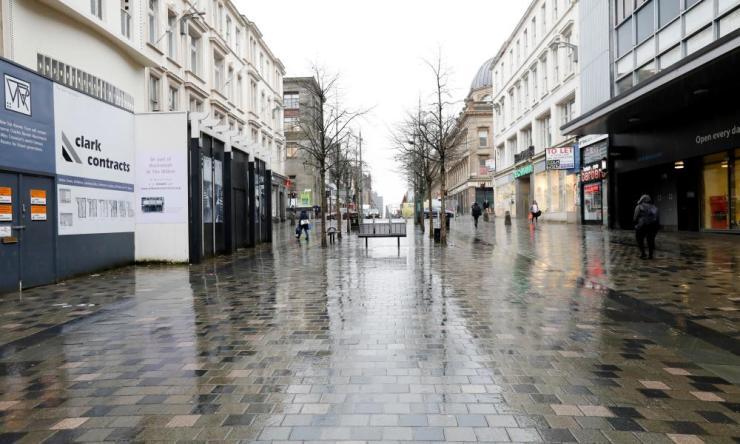The decline of the high street Sauchiehall Street in Glasgow, April 2018.