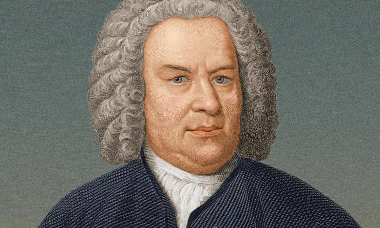 German organist and composer Johann Sebastian Bach (1685-1750), portrait circa 1725.