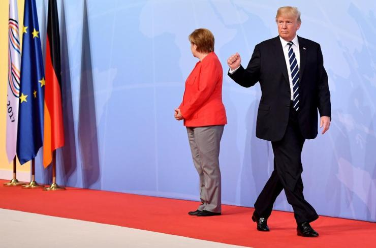 Merkel and Donald Trump, the US president.