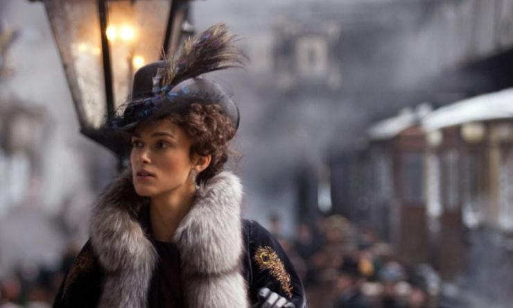 Keira Knightley as Anna Karenina in the film adaptation directed by Joe Wright, 2012.