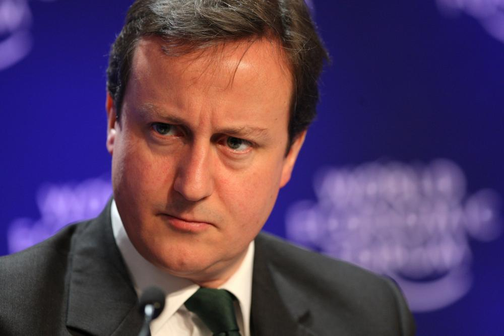 David Cameron at the World Economic Forum in Davos in 2009.