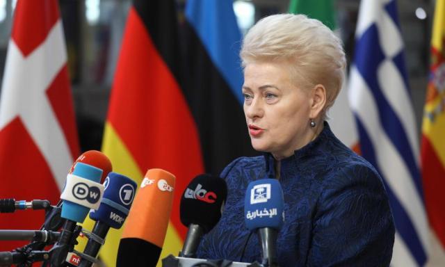 Lithuania's president, Dalia Grybauskaite