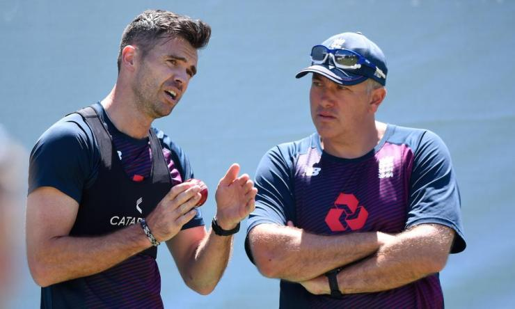 Jimmy Anderson (pictured with the head coach, Chris Silverwood) is set to bowl for England in the second Test.