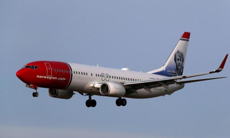 Norwegian Air Sweden Boeing 737-800 plane.