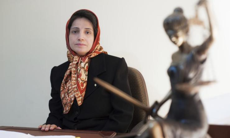 Iranian human rights lawyer Nasrin Sotoudeh in 2008.