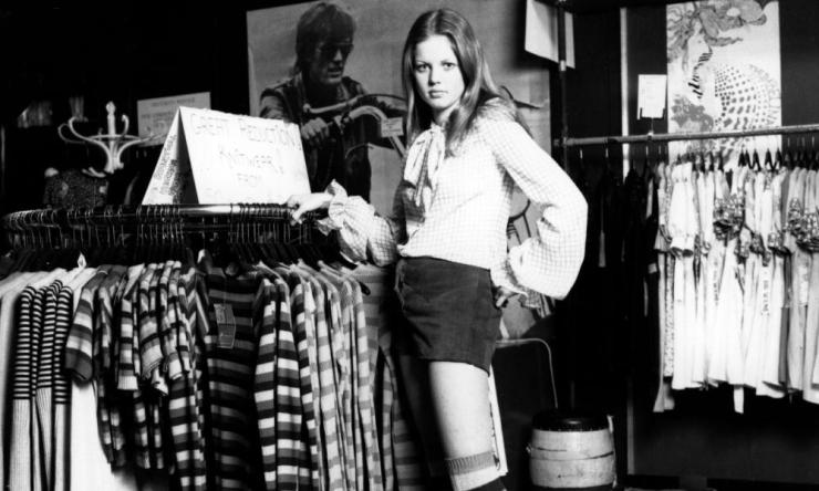 Clothes boutique, January 1972.
