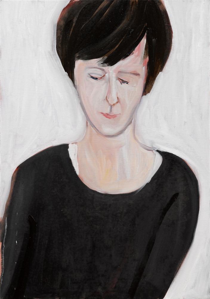 Chantal Joffe's portrait of Olivia Laing.