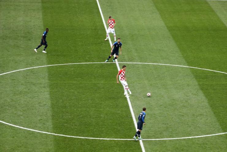 Mandzukic kicks off.
