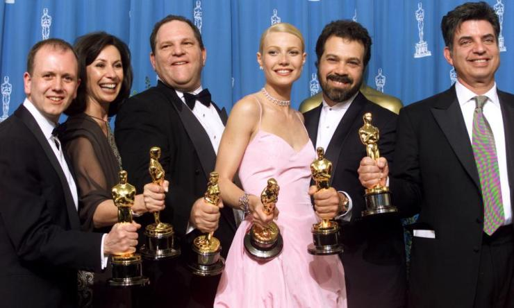 Harvey Weinstein won an Oscar as producer of Shakespeare in Love, from 1999.