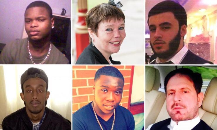 (L-R clockwise): Yaya Mbye, Hannah Leonard, Hasan Ozcan, Seyed Khan, Kwabena Nelson and Khader Saleh.