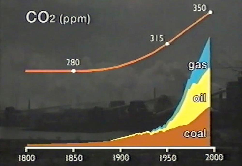 """Shell's 1991 film linked fossil fuel burning with rising atmospheric CO2 and said the """"serious warning"""" of dangerous warming was """"endorsed by a uniquely broad consensus of scientists""""."""
