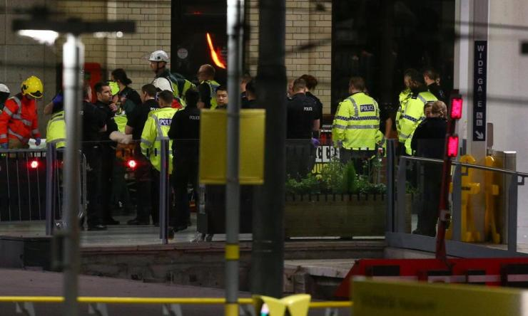 E Police Respond To An Incident At Manchester ArenaMANCHESTER, ENGLAND - Emergency services at Victoria Railway Station, close to the Manchester Arena on May 23, 2017 in Manchester, England. There have been reports of explosions at Manchester Arena where Ariana Grande had performed this evening. Greater Manchester Police have have confirmed there are fatalities and warned people to stay away from the area. (Photo by Dave Thompson/Getty Images)