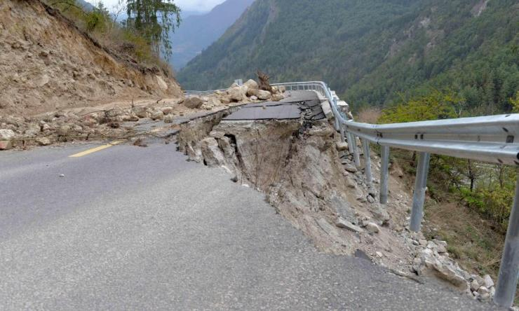 The 2015 earthquake damaged mountain roads both sides of the border.
