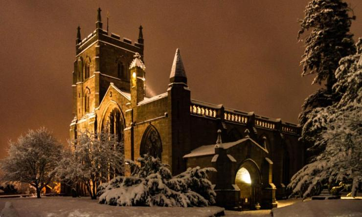 After hours of snow, Leominster was covered under a thick blanket of white.