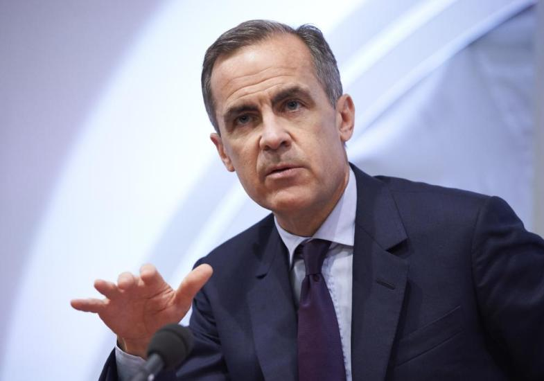 Mark Carney, the Governor of the Bank of England, speaks during the quarterly Inflation Report press conference, in London, Thursday, Feb. 4, 2016. The Bank of England policymakers have voted to keep interest rates at their record low of 0.5 percent as Governor Mark Carney unveils economic forecasts for Britain. (Niklas Halle'n, Pool Photo via AP)