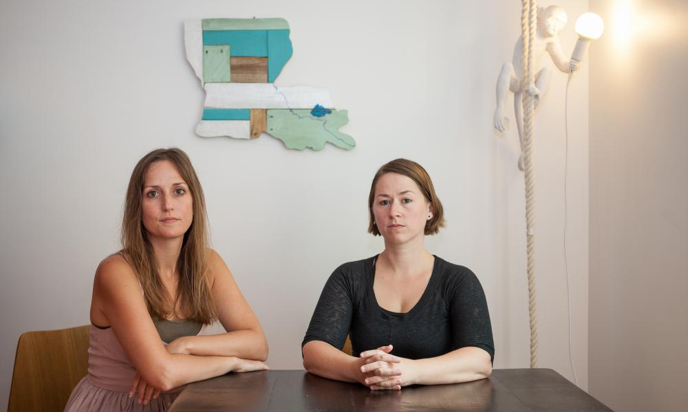 Dr Jessica Cantlon (left) and Dr Celeste Kidd, two of nine women who accused Dr Florian Jaeger of sexual harassment.