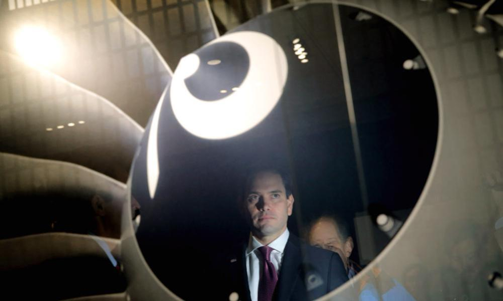 Republican presidential candidate Marco Rubio at BAE Systems during a campaign stop last week.