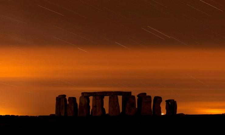 Stonehenge during the 2013 Perseid meteor shower
