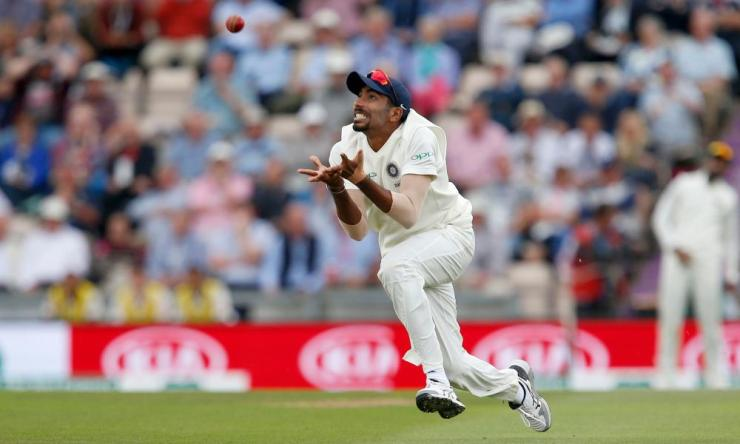 asprit Bumrah of India catches Moeen Ali of England off the bowling of Ravi Ashwin