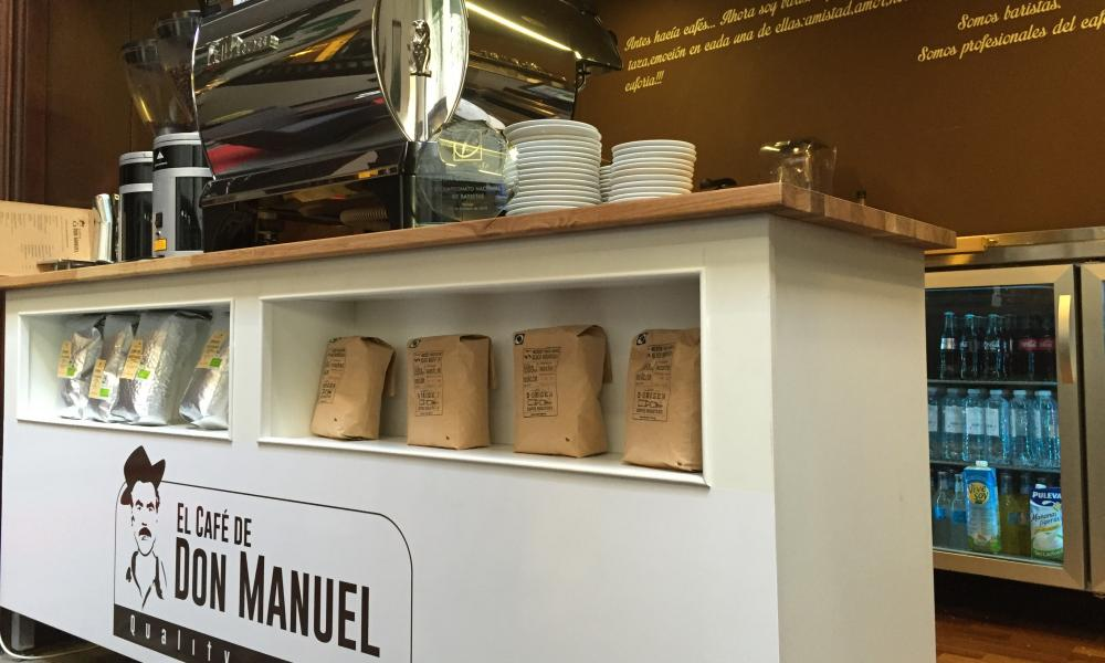 El Cafe de Don Manuel counter. La Palma, Canary Islands, Spain.