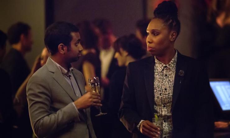Aziz Ansari and Lena Waithe.