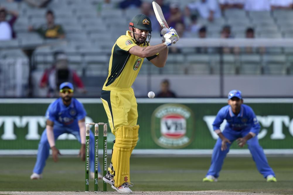 Australia's batsman Shaun Marsh hasn't had to do a lot of leaving in his half-century tonight.