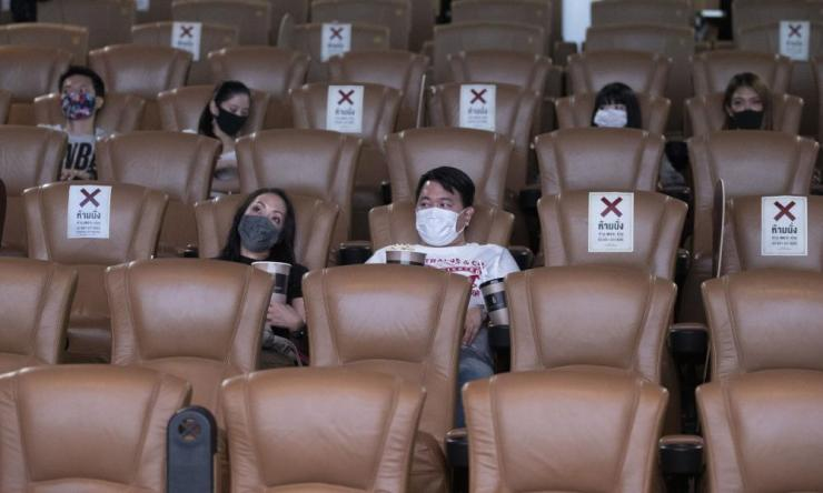Customers at a cinema in Bangkok, Thailand