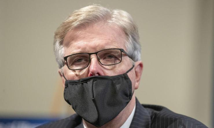 Texas, where Dan Patrick (pictured) is lieutenant govenor, became the first US state to surpass 1m infections on Wednesday.