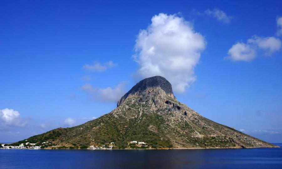 Approaching Telendos from Kalymnos.