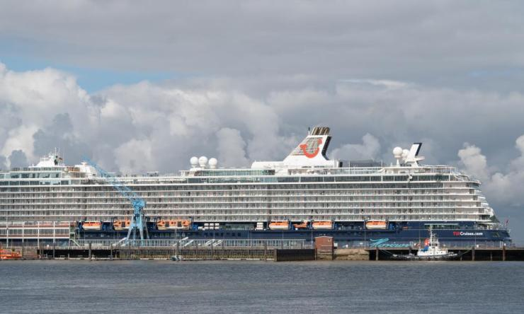 The Mein Schiff 3 cruise ship stands under quarantine in Cuxhaven, Germany.