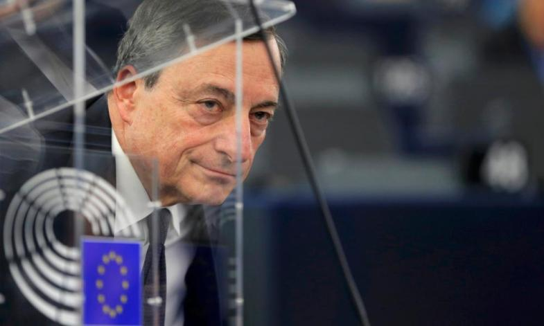 ECB president Mario Draghi at the European Parliament in Strasbourg this month.
