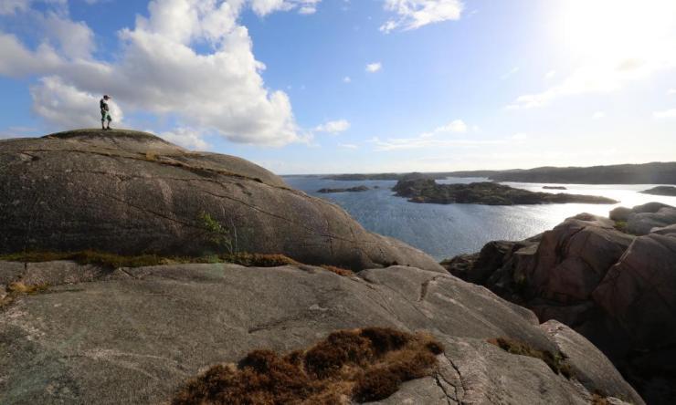 Taking in the view on Kälkerön island.