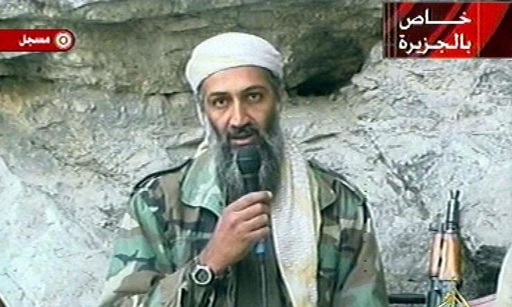 Osama bin Laden in a recording broadcast by al-Jazeera a month after 9/11.