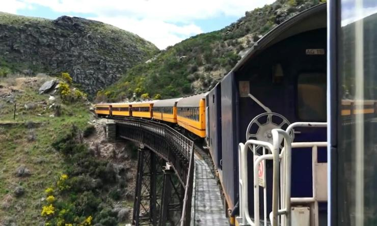 The train journey from Dunedin to Middlemarch